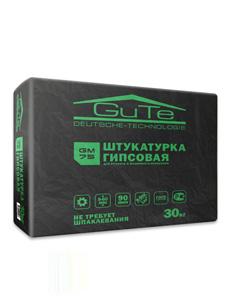 Гипсовая штукатурка GUTE для ручного и машинного нанесения GM75